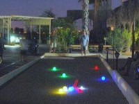 bocce ball at night