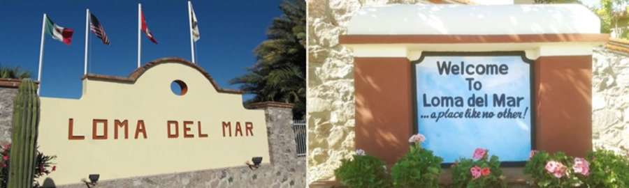 Loma del Mar entrance
