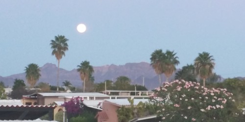 Moon rise over Loma Del Mar San Carlos